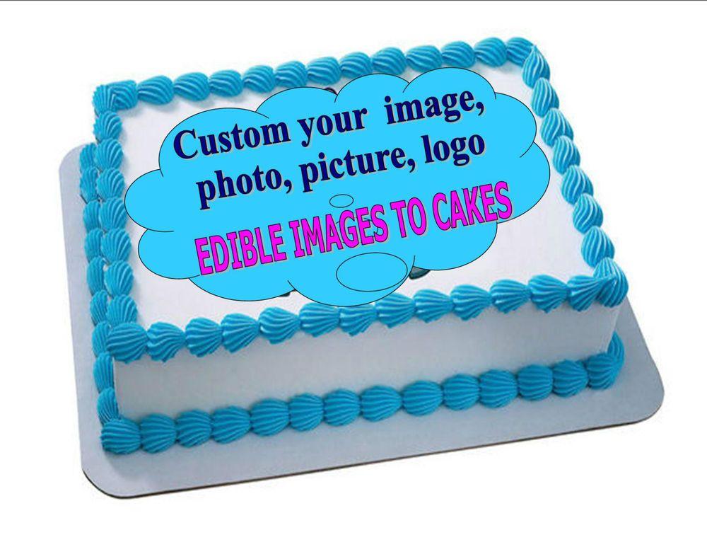 Edible cake photo image personalizedcustom any image