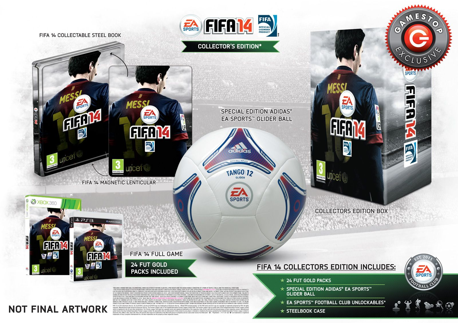 The GameStop Exclusive Fifa 14 Collector's Edition comes with a ...