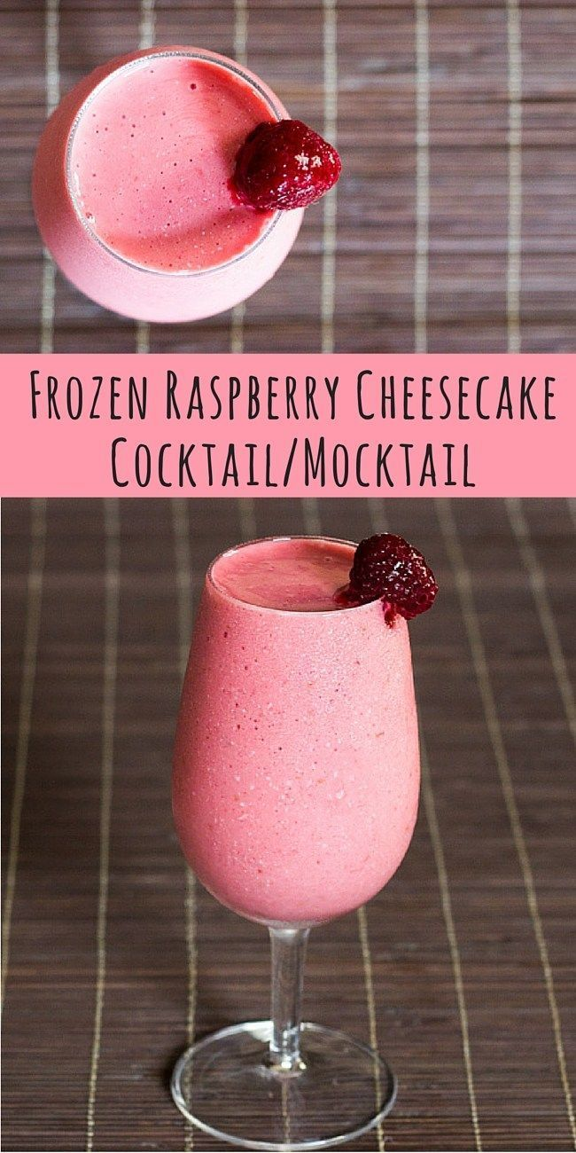 Low Carb Raspberry Cheesecake Cocktail Mocktail Using Delicious