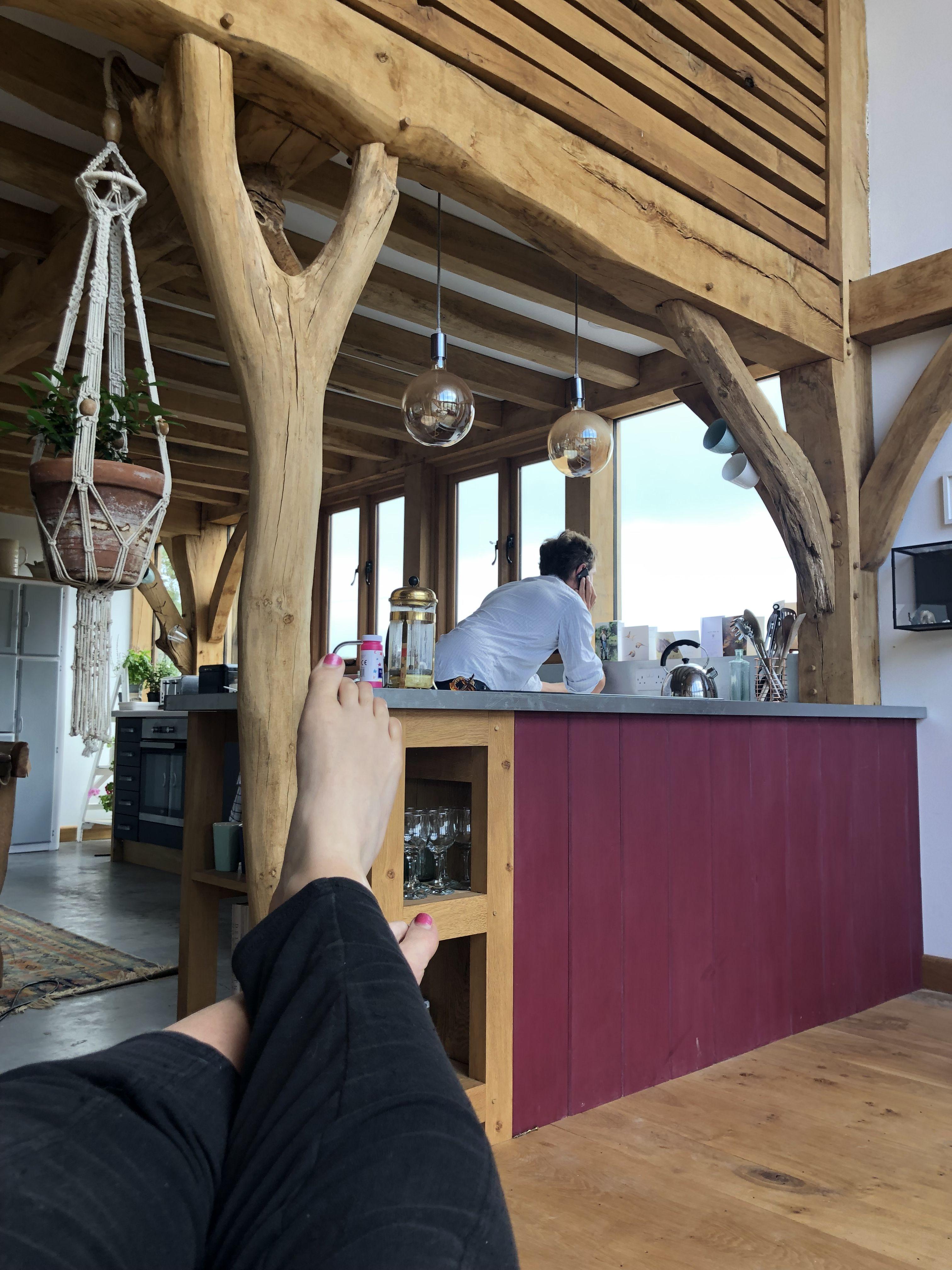UK Hardwoods Oak flooring contrasting with polished