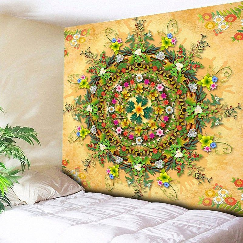 Decorative Wall Hanging Floral Print Tapestry | Decorative walls and ...