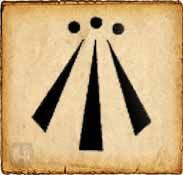 Awen - Símbolos celtas - En gaélico significa inspiración. Este símbolo representa la armonía entre lo opuesto. Cada uno de los dibujos de los extremos representan la dualidad, y la raya que se encuentra en el medio simboliza la armonía entre ellos.