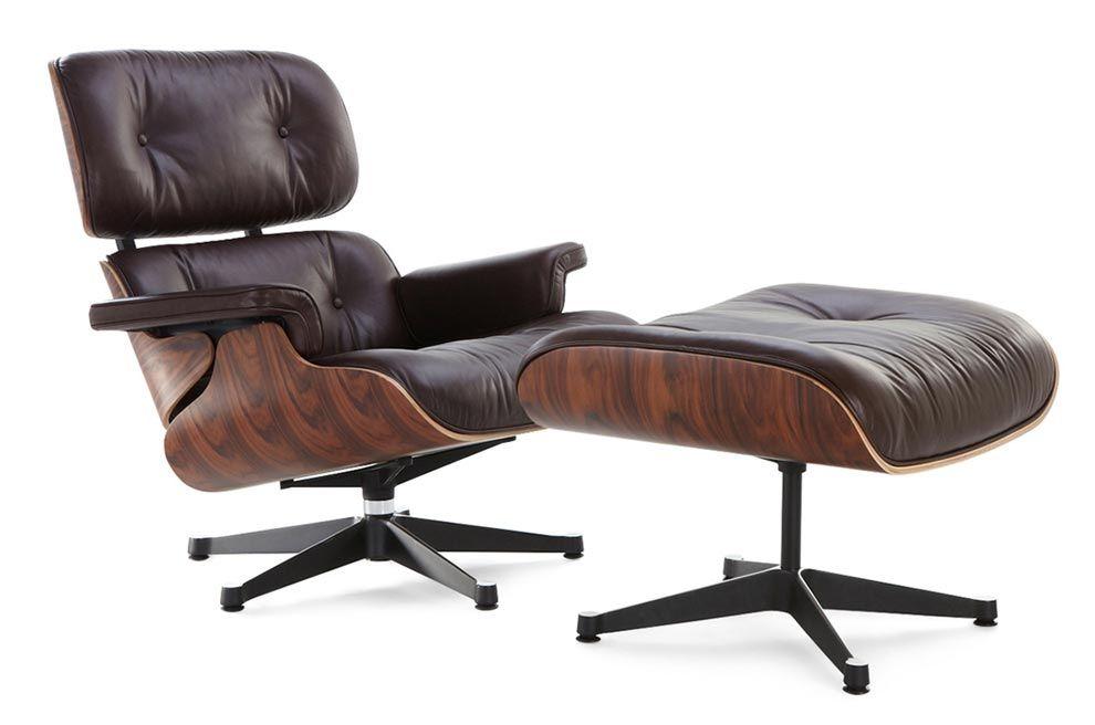 Admirable Classic Lounge Chair Ottoman Brown Rodrigos Home Office Customarchery Wood Chair Design Ideas Customarcherynet