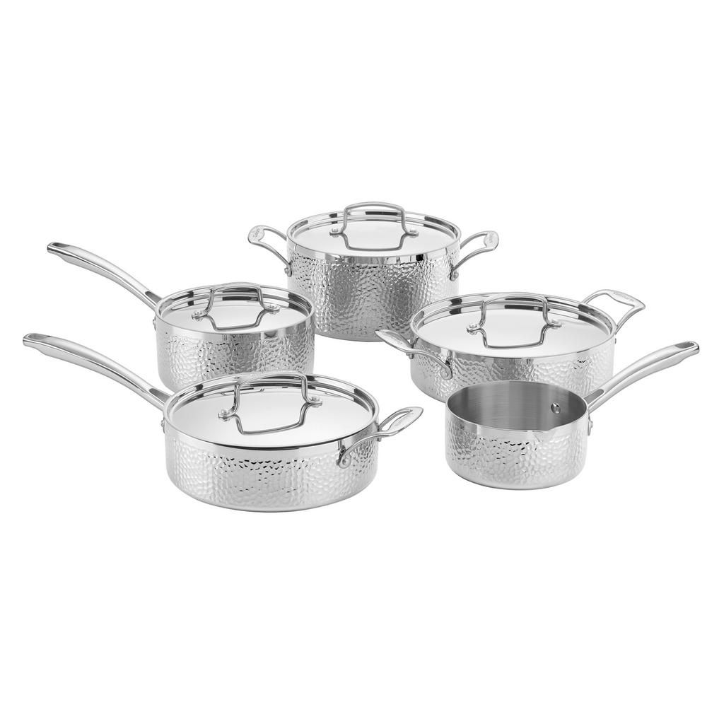 Cuisinart hammered collection 9piece triply stainless