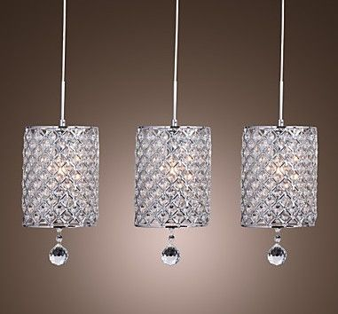 LightInTheBox Crystal Drop Pendant Light With 3 Lights In Cylinder Style
