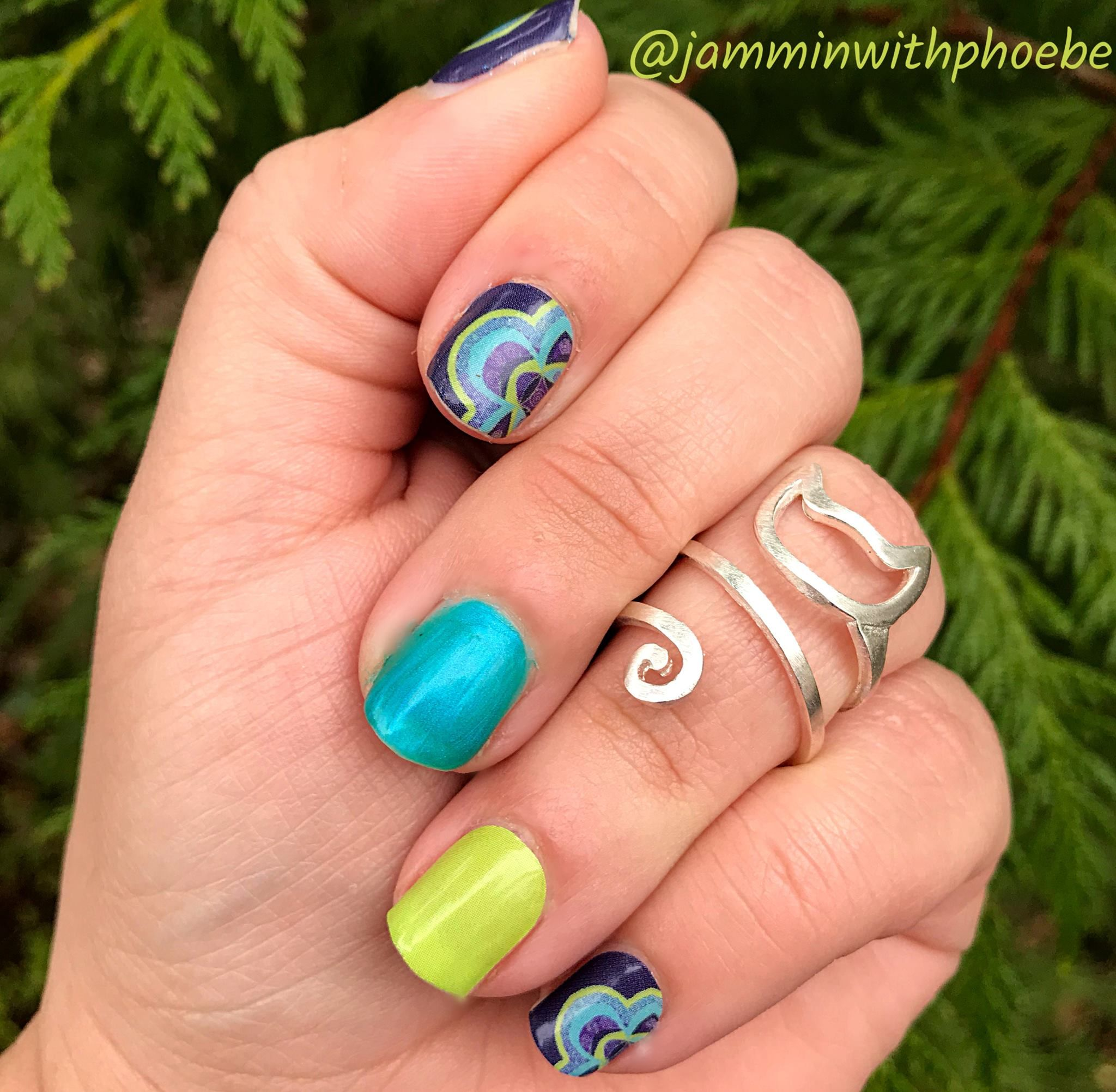 Peacock Nails My Coquille Peacock Nas Jamberry Nail Art Studio