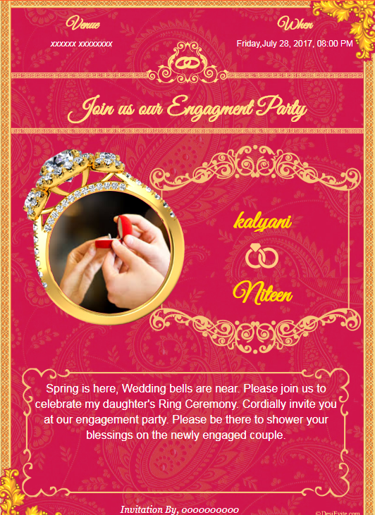 Latest Engagement Design Card Engagement Invitation Cards