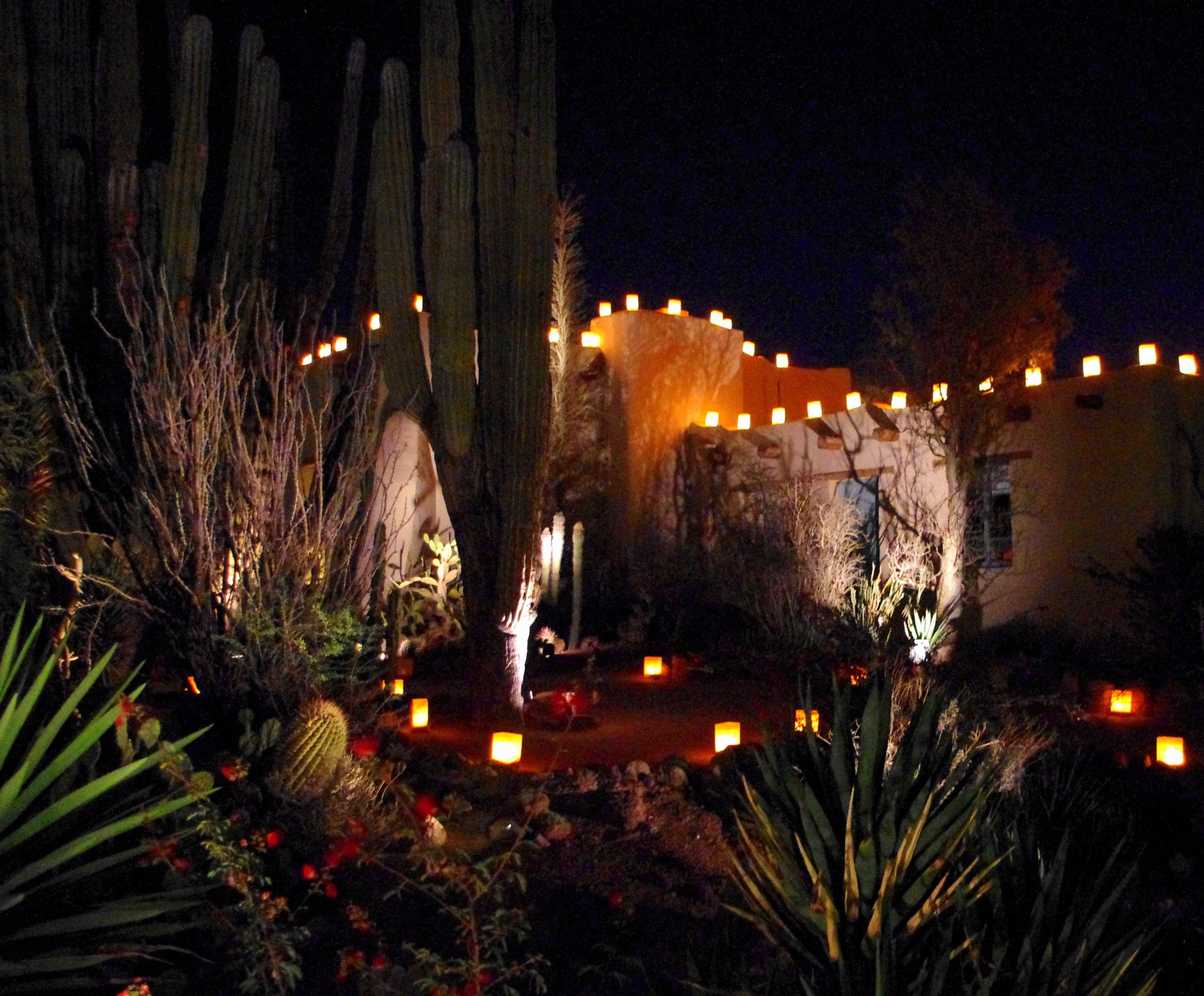 A wonderful evening during los noches de las luminarias