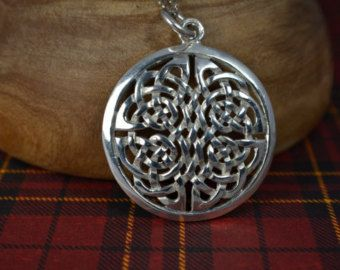 Celtic Knot Circle Pendant with Necklace, Vintage Sterling Silver - Edit Listing - Etsy