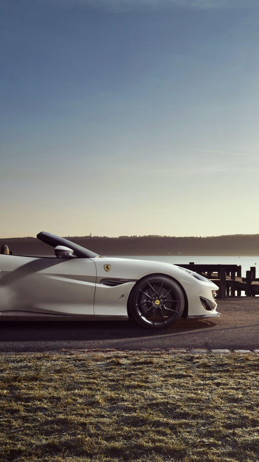 Off Road White Sports Car Ferrari Portofino Wallpaper Sports