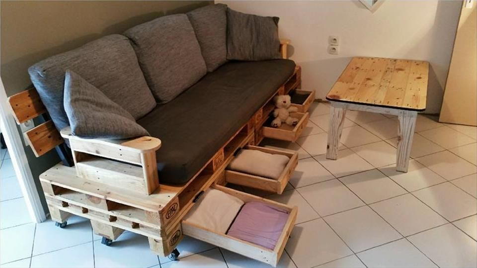 Pallet Furniture Projects With Images Wood Pallet Couch