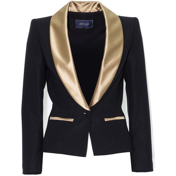Veste smoking femme, veste doré, veste col chale, stefanie renoma ... 4140633f30a