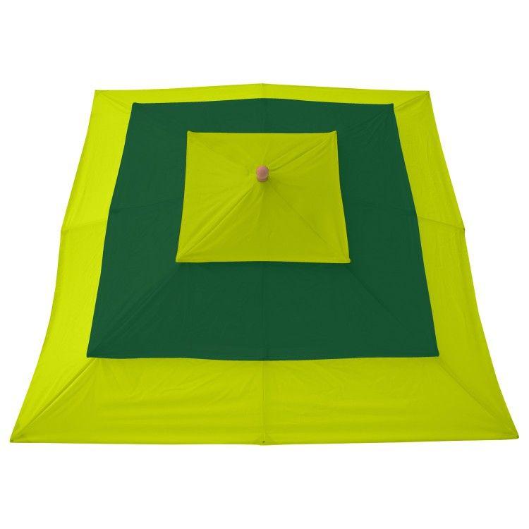 anndora Sonnenschirm 4 m rund dunkelrot Hartholz Schirm Gartenschirm Marktschirm