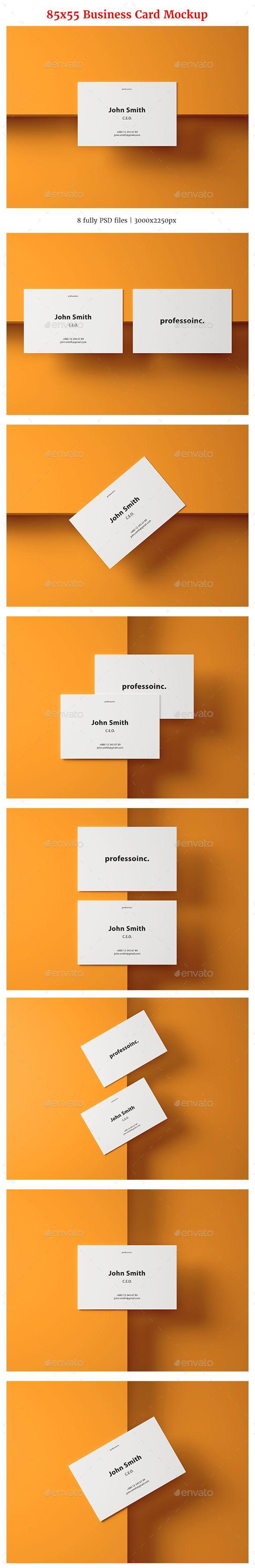 85x55 business card mockup set 2 pinterest reheart Choice Image