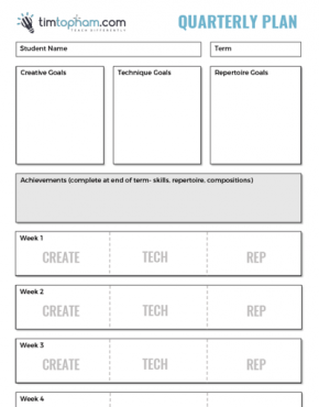quarterly plan template
