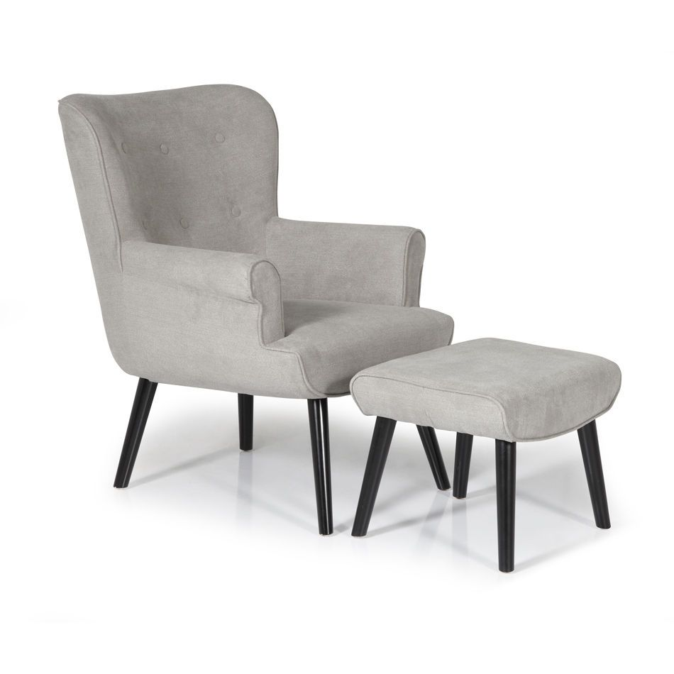 Oban Fabric Armchair And Footstool Next Day Delivery Oban Fabric