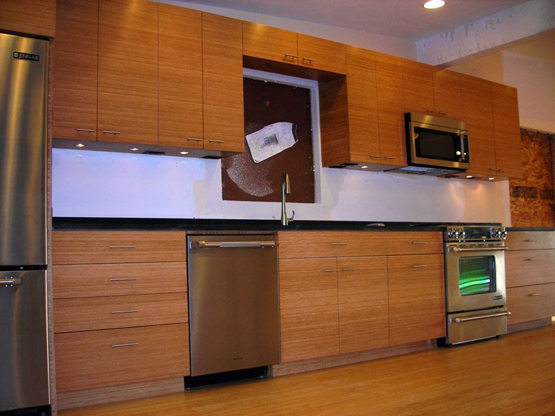 kitchen cabinets | Modern bamboo kitchen cabinet design and ...