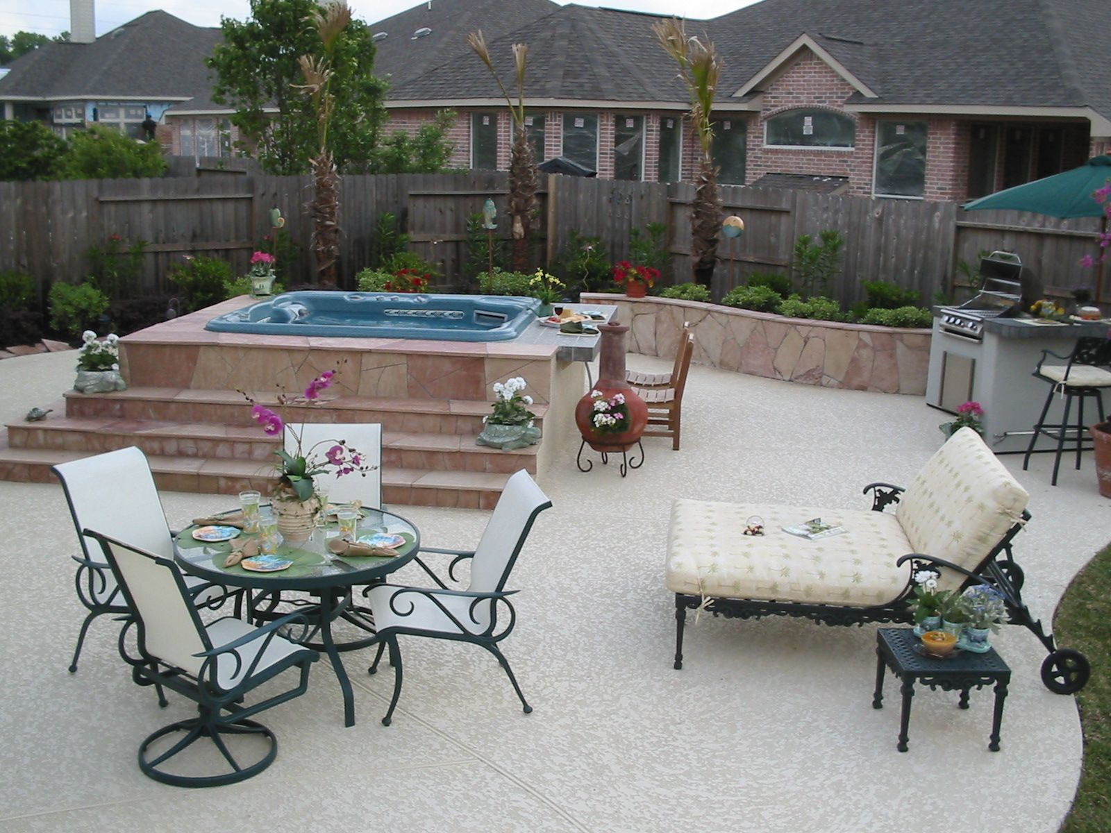 Garden Kitchen Houston Outdoor Kitchen With Hot Tub Outdoor Kitchen Pinterest