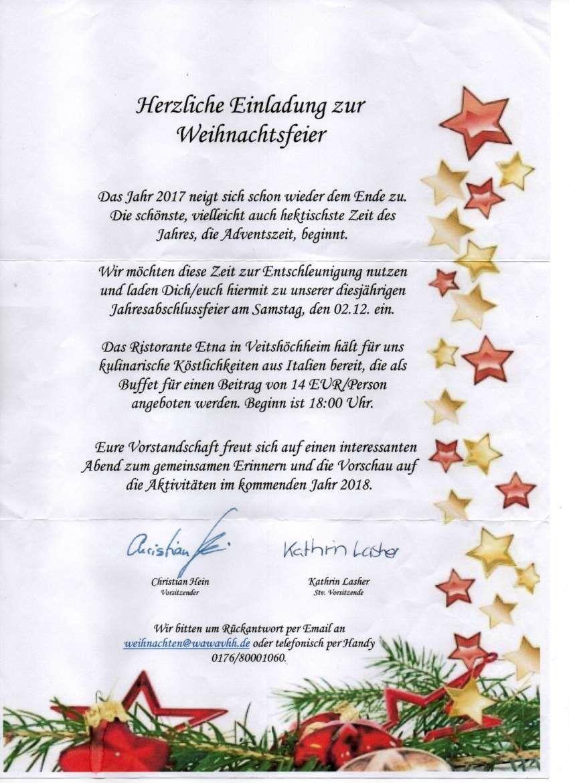 Einladung Weihnachtsfeier Firma.Einladung Weihnachtsfeier Vorlage Excel Einladung Zu Einer