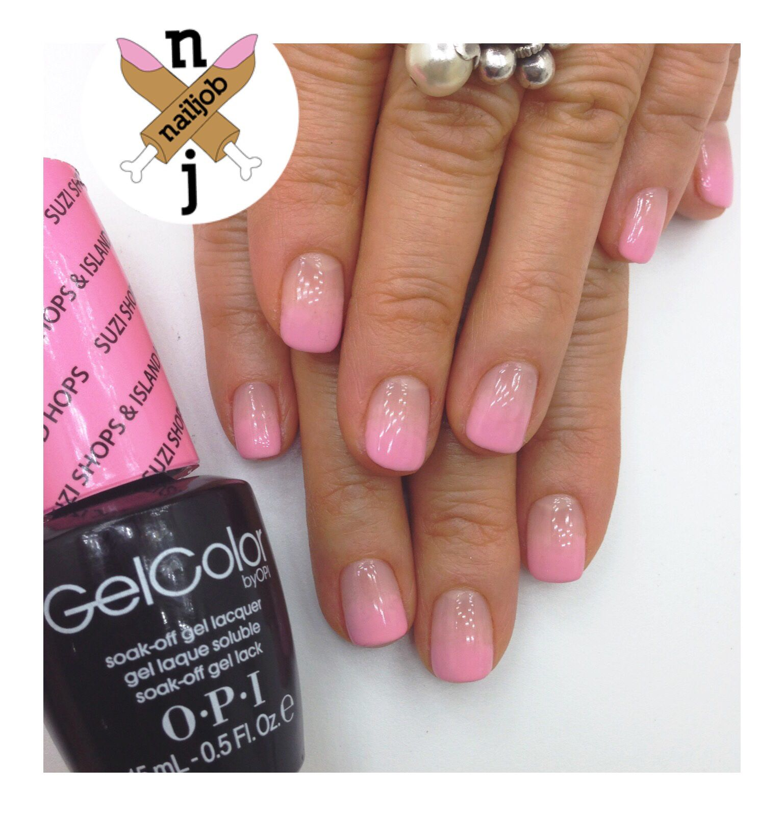 Pink Ombre Nails Using OPI Gelcolor Spring 2015 Hawaii