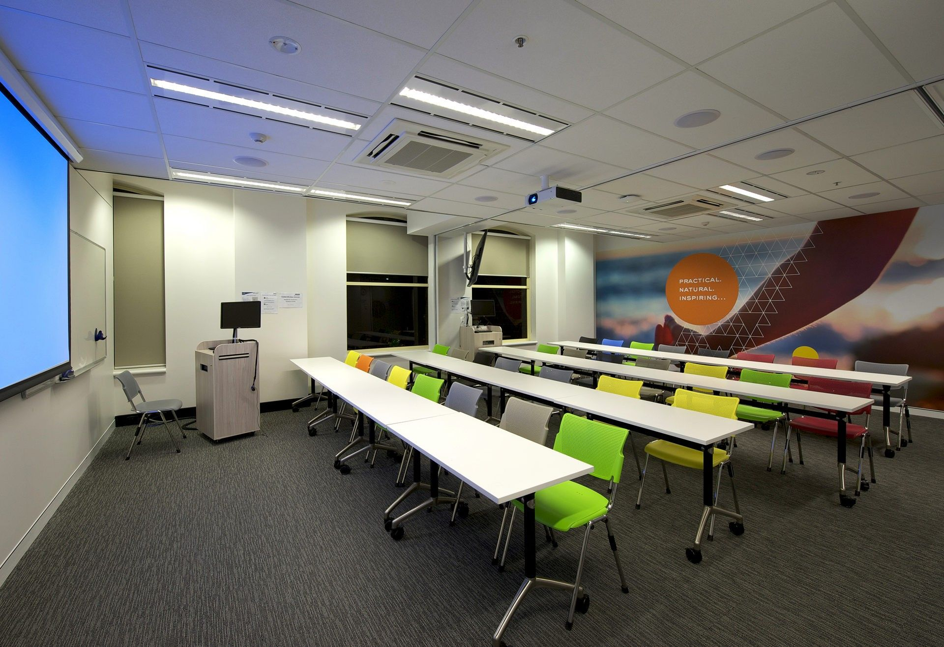 Training room fitout training room 2 melbourne school for Certification for interior decorator