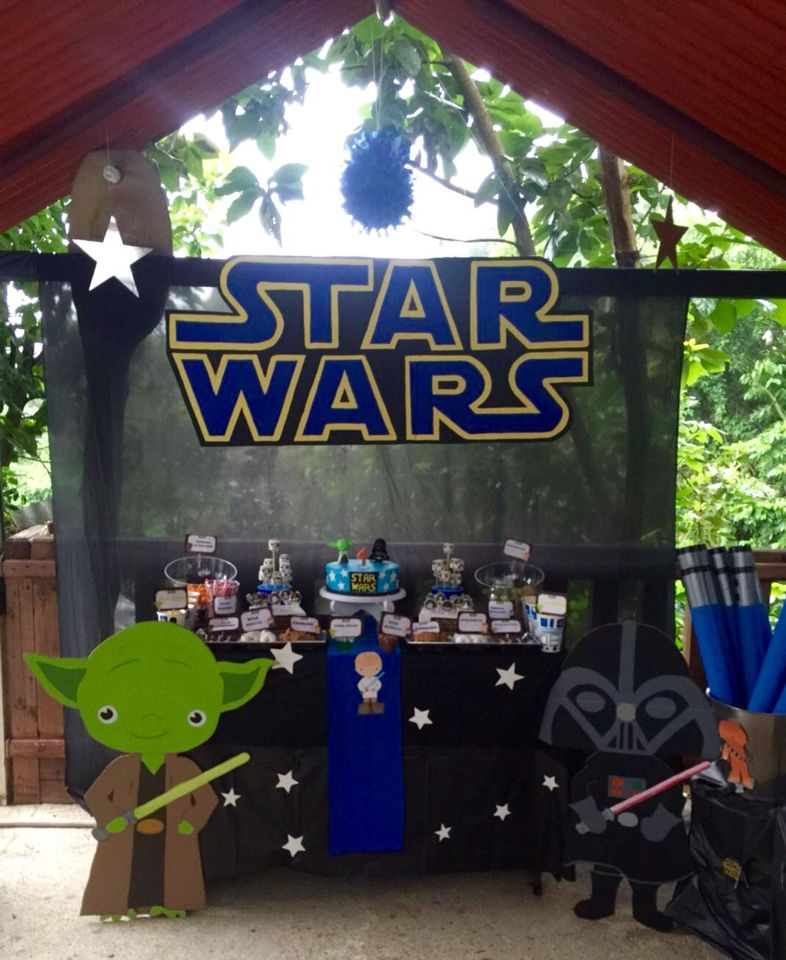 Star Wars Birthday decoration cake table star wars Pinterest