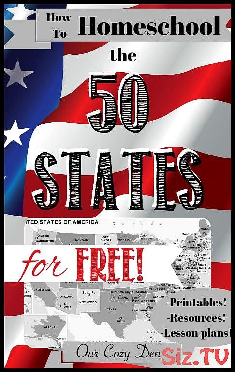 How to Homeschool the 50 States for FREE! ~ With FREE printables, lesson plans, ...,  #Free #... #50freeprintables