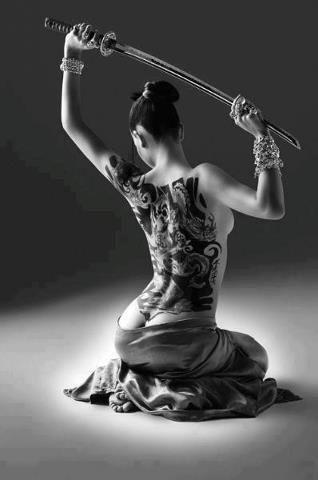 Art samurai sexy female