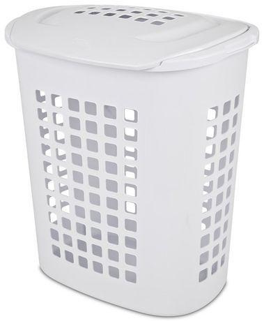 Sterilite 81 Liter Lift Top White Laundry Hamper White Laundry