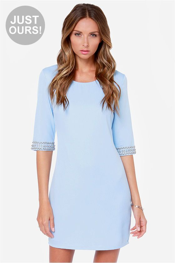 06a4033261 LULUS Exclusive Sleeve-ing Beauty Light Blue Dress at LuLus.com!