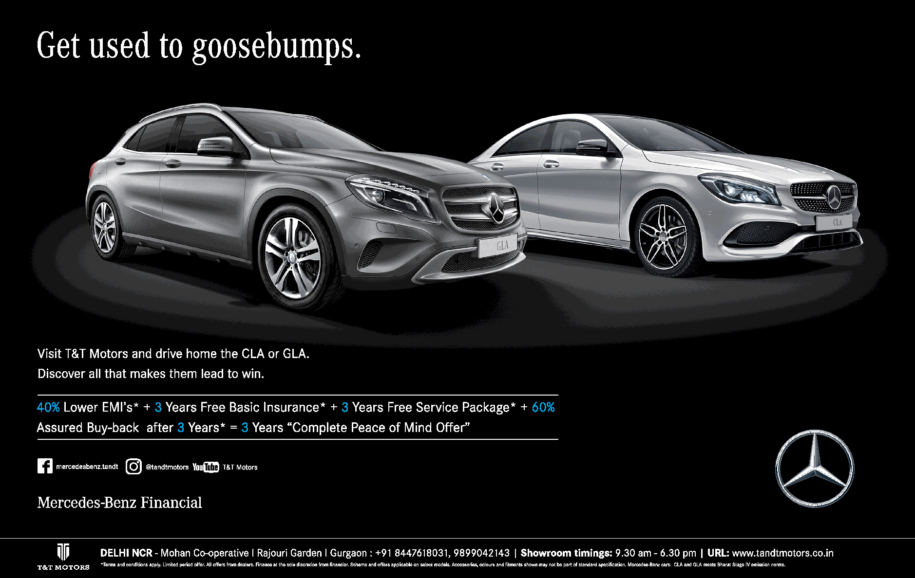 Mercedes Benz Get Used To Goosebumps Ad Dainik Jagran Delhi Check Out More Car Advertisement Collection At Https Www Adve Mercedes Benz Benz Car Advertising
