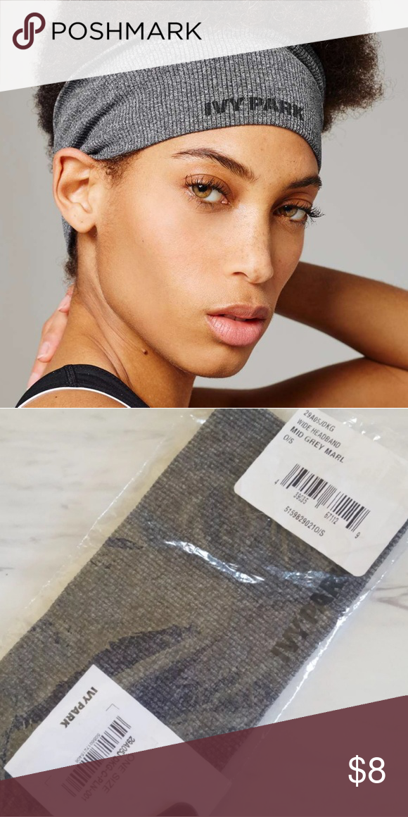 e55607412 NWT Ivy Park Grey Ribbed Headband ○PRICE FIRM ○ New with tags ivy ...