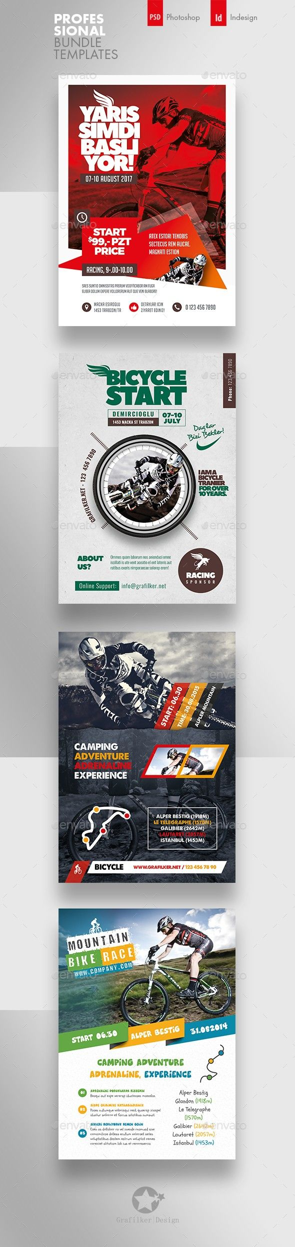 Adrenaline Adventure Atv Bicycle Bike Biking Camp Camping Cycle Cyclist Excitement Grafilker Holiday Flyer Business Flyer Templates Flyer Template
