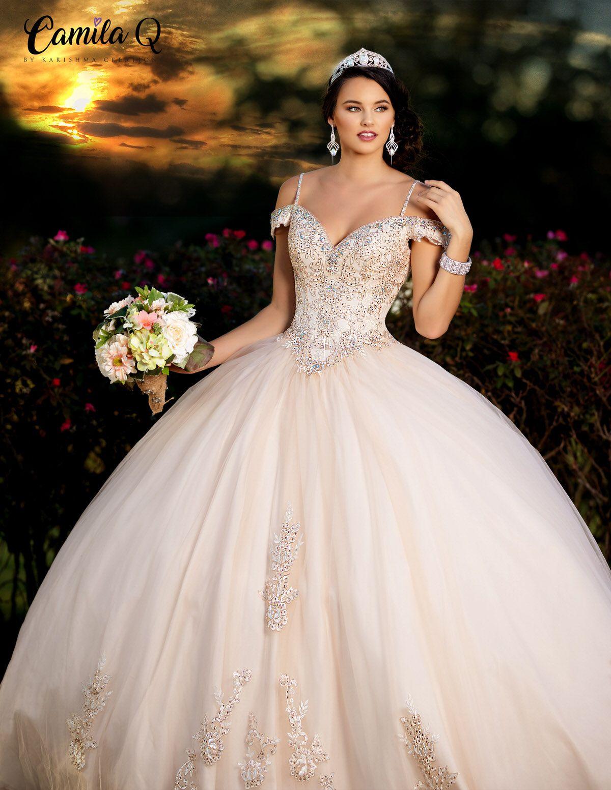 Beaded Off the Shoulder Quinceañera Dress | Camila Q Style Q18003 -   15 dress Quinceanera burgundy ideas