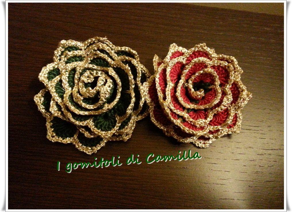 Photo of Rose a uncinetto per decorazioni natalizie: i tutorial di Camilla