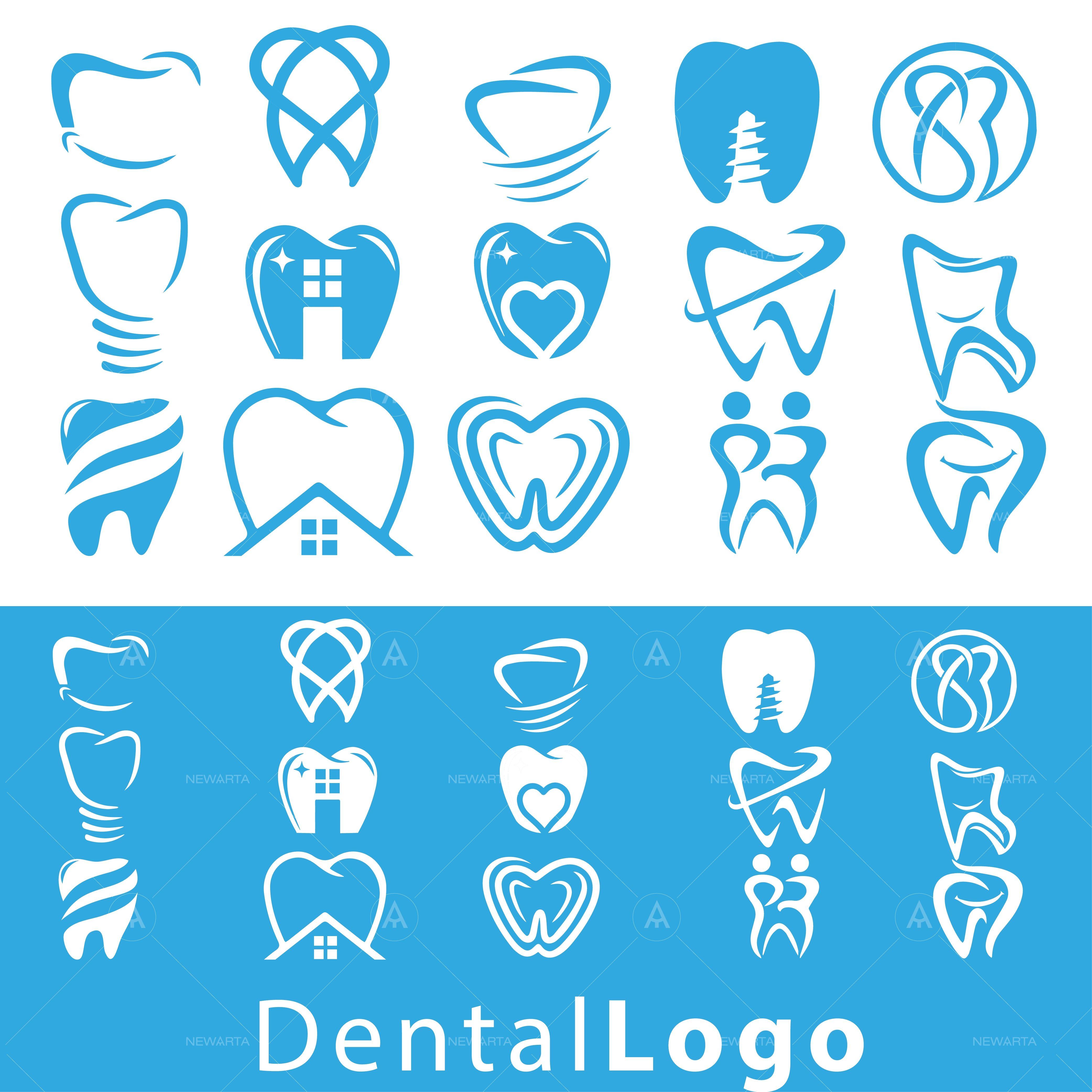 Dental logo set Dental logo, Dental clinic logo, Dental