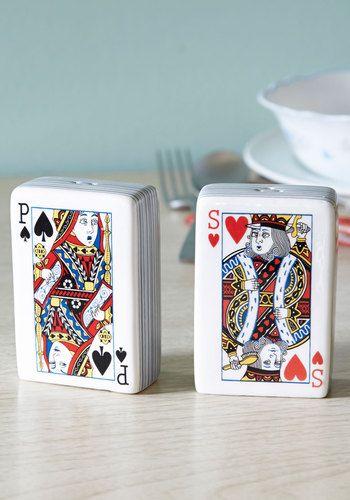 Playing cards salt & pepper.