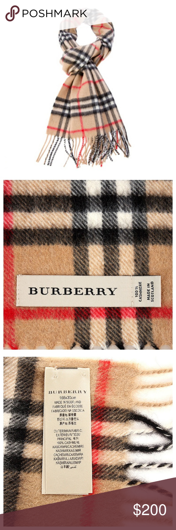 Burberry Scarf Camel Check A Beautifully Soft Scarf Suitable For