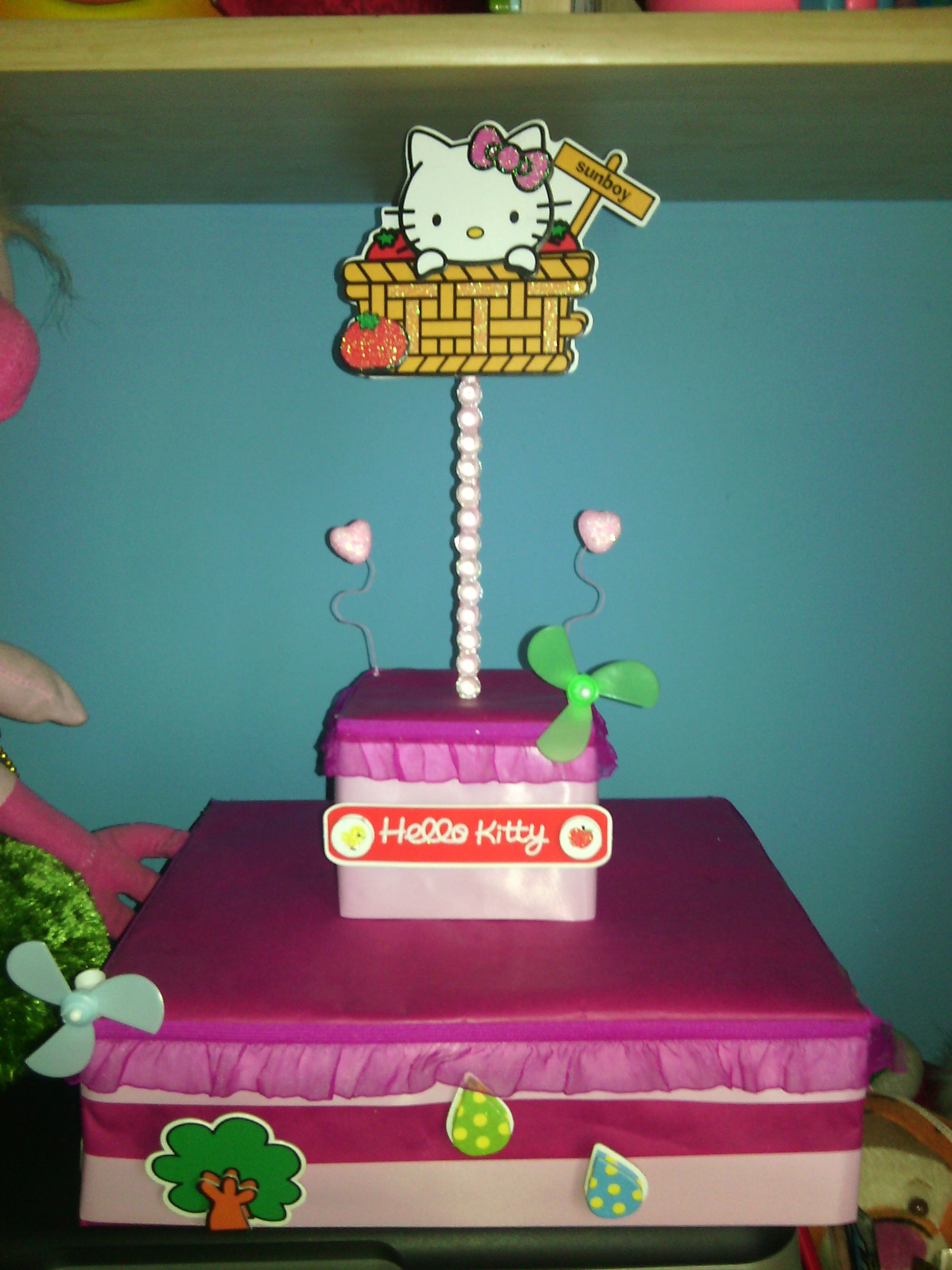 Hello kitty pop cakes stand made by myself cat