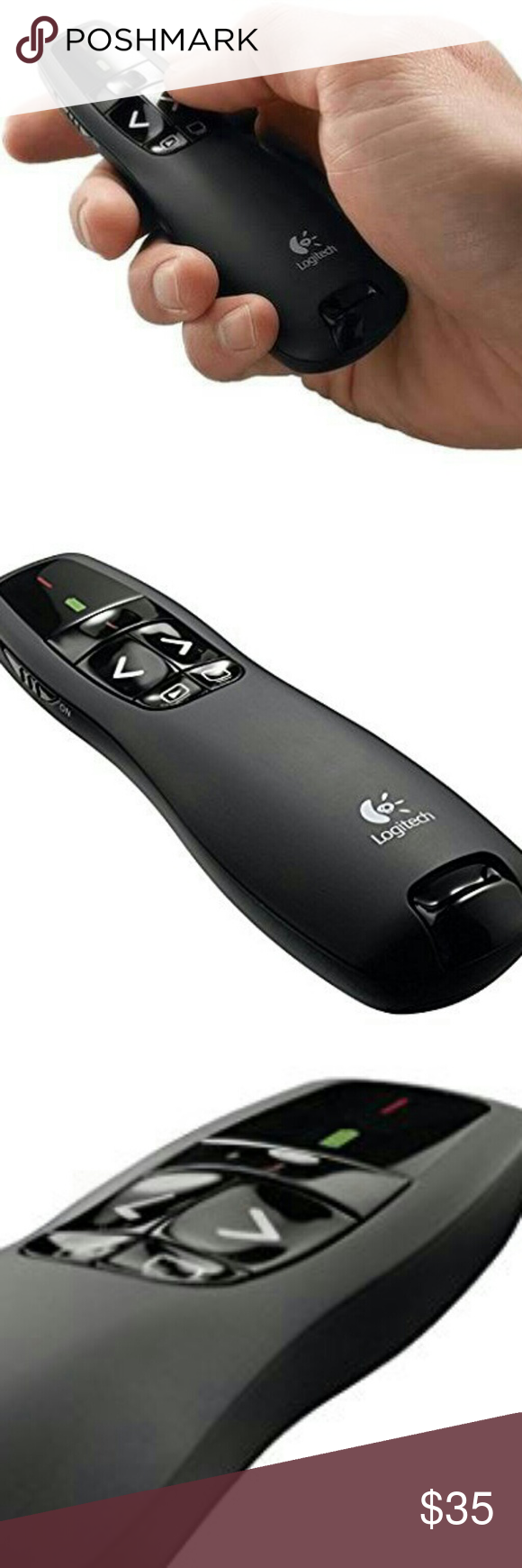 Logitech Wireless Presenter R400 Withlaser Pointer Bright Red