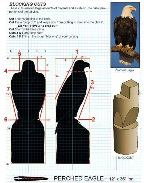 Chainsaw carving patterns free preched eagle https