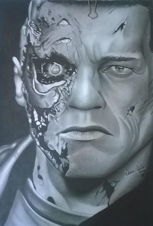 O Exterminador Do Futuro Desenhos Realistas Exterminador Do