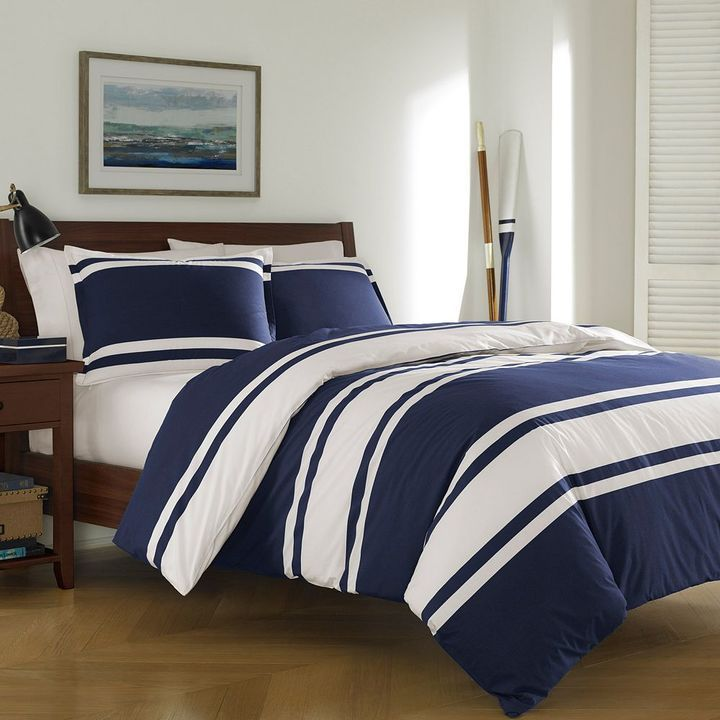next barn scroll pottery to blue c sham products white item comforter marlo and stripe striped