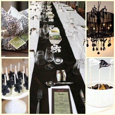 Black & white theme party ideas