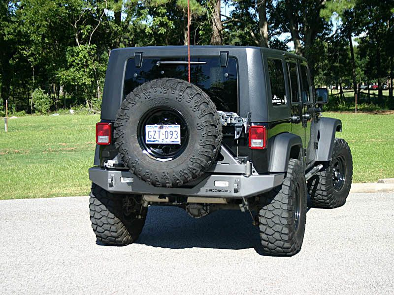 Schrocworks Jeep Jk Tire Carrier Rear Bumper Made In Usa Jeep Jk Jeep Jeep Bumpers