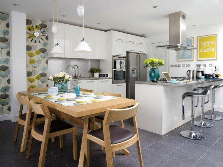 Hard working flooring designs for practical kitchens Floor design - amenager une cuisine ouverte