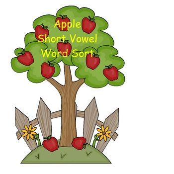 Apple Short Vowel Word Sort ($2)-Great review for short vowel review.