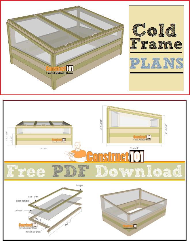 Cold Frame Plans - PDF Download | Pinterest | Cold Frame, How to ...