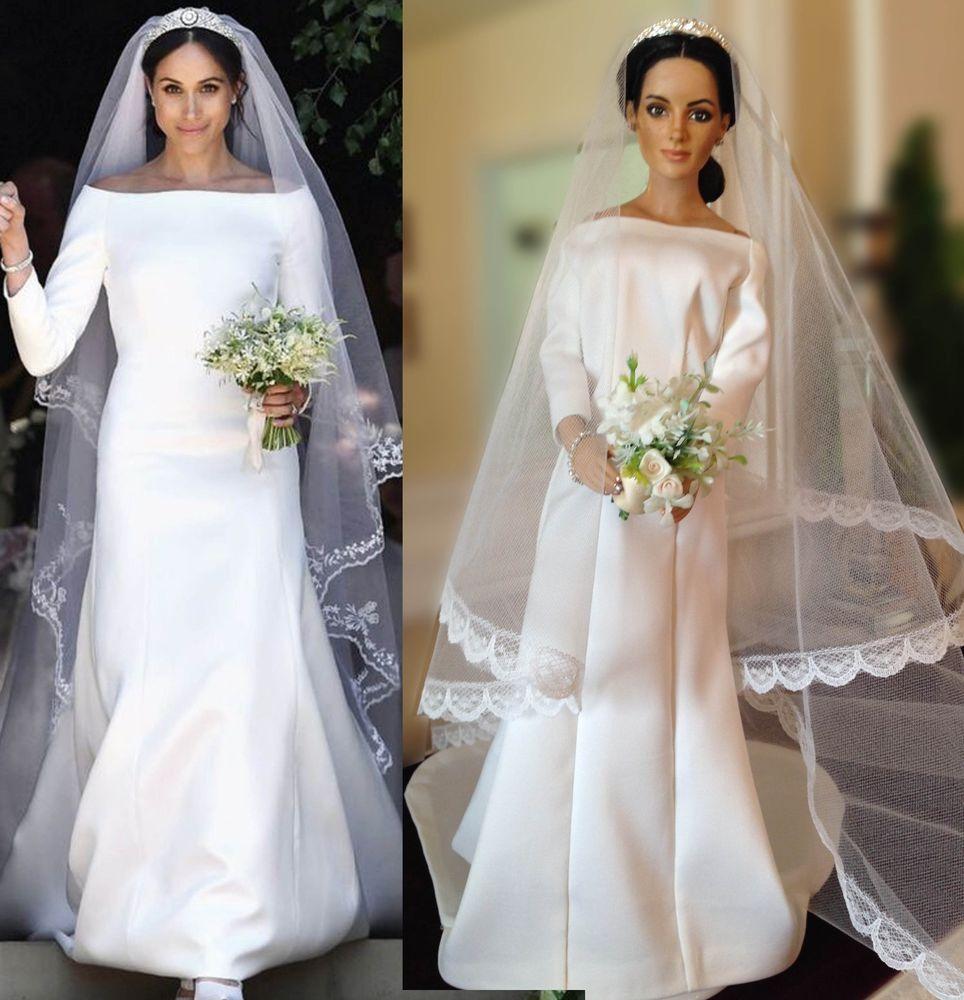 Franklin Mint Meghan Markle Doll Royal Wedding Gown