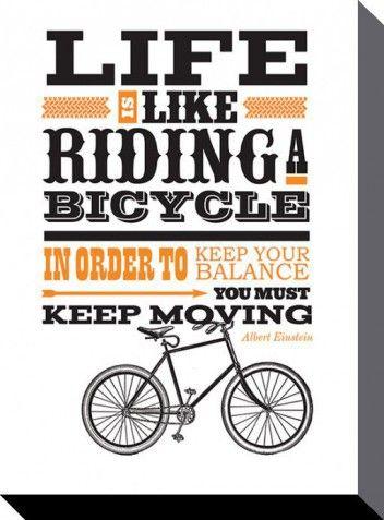 das leben ist wie ein fahrrad albert einstein